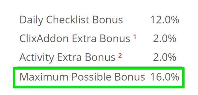 Realiza el bonus diarios de tareas