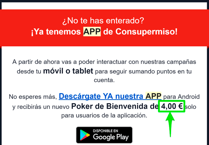 App de Consupermiso para ganar más dinero