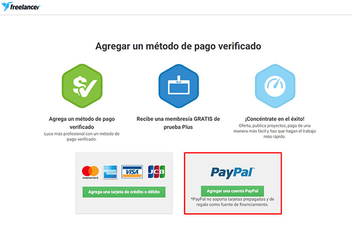 3 recibir pagos con Paypal para freelancer
