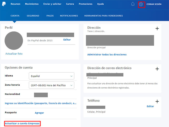 7 cambiar a cuenta business paypal