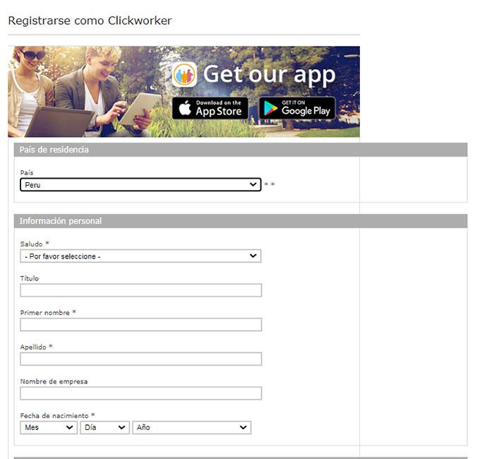 1 Registrarse en clickworker